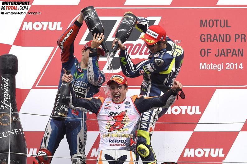 Jorge Lorenzo, Valentino Rossi, Marc Marquez - © Yamaha Motor Racing Srl