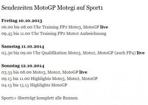 Motegi Sendezeiten Sport1