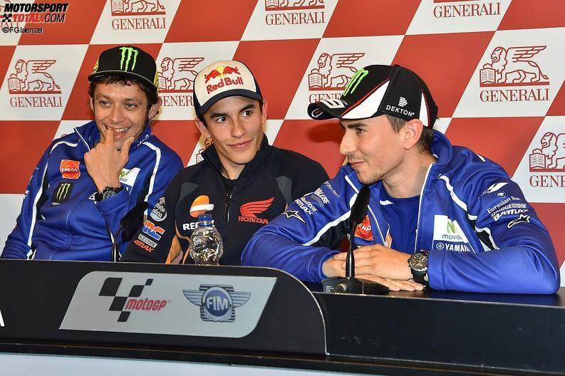 Valentino Rossi, Marc Marquez, Jorge Lorenzo - © FGlaenzel