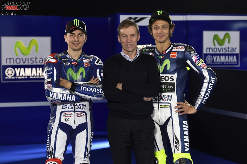 Jorge Lorenzo, Valentino Rossi, Lin Jarvis - © Yamaha
