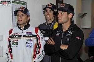 Stefan Bradl, Sandro Cortese, Philipp Öttl - © LCR-Honda