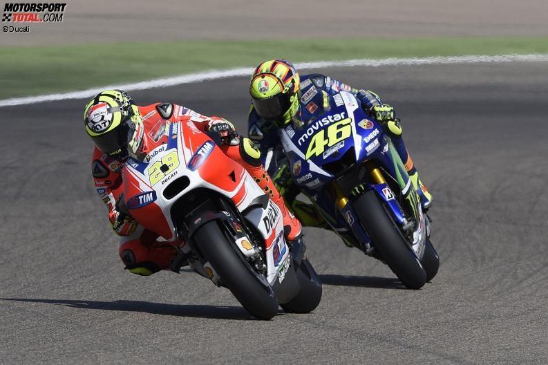 Andrea Iannone, Valentino Rossi - © Ducati