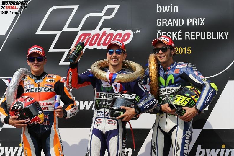 Marc Marquez, Jorge Lorenzo, Valentino Rossi - © GP-Fever.de
