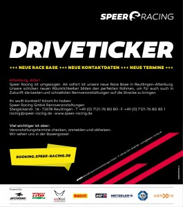 Speer Racing - Drive Ticker