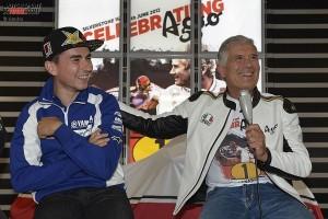 Giacomo Agostini; Jorge Lorenzo - © Yamaha