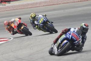 Valentino Rossi, Jorge Lorenzo, Marc Marquez - © Yamaha