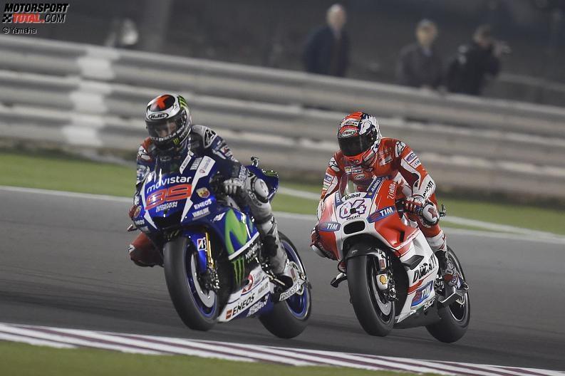 Jorge Lorenzo, Andrea Dovizioso - © Yamaha