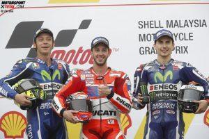 Valentino Rossi, Jorge Lorenzo, Andrea Dovizioso - © Yamaha