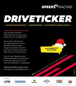 Speer Racing Wunschzettel