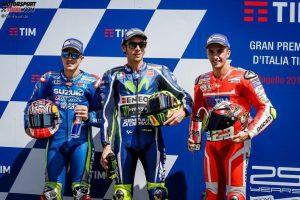 Maverick Vinales, Valentino Rossi, Andrea Iannone - © GP-Fever.de