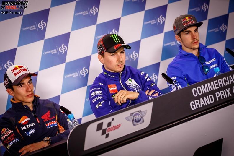 Marc Marquez, Jorge Lorenzo, Maverick Vinales - © GP-Fever.de