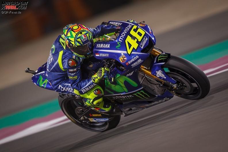 Qatar 2017 FP1: Valentino Rossi langsamster Yamaha-Pilot