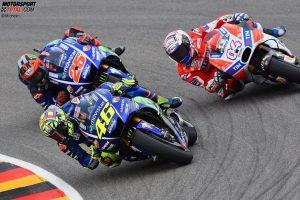 Valentino Rossi, Andrea Dovizioso, Maverick Vinales - © Michelin