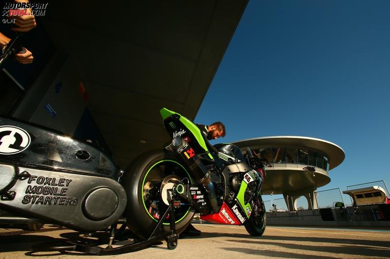 Superbike-Test in Jerez: Kawasaki hält mit Sykes die Spitze