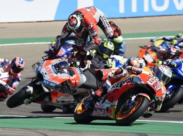 Lorenzo tobt wegen Marquez: Rennen, Fuß und Siegchance zerstört