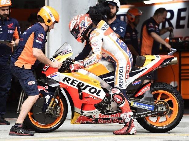 MotoGP Valencia 2018, FP1: Marc Marquez im Regen Schnellster vor Pramac-Duo