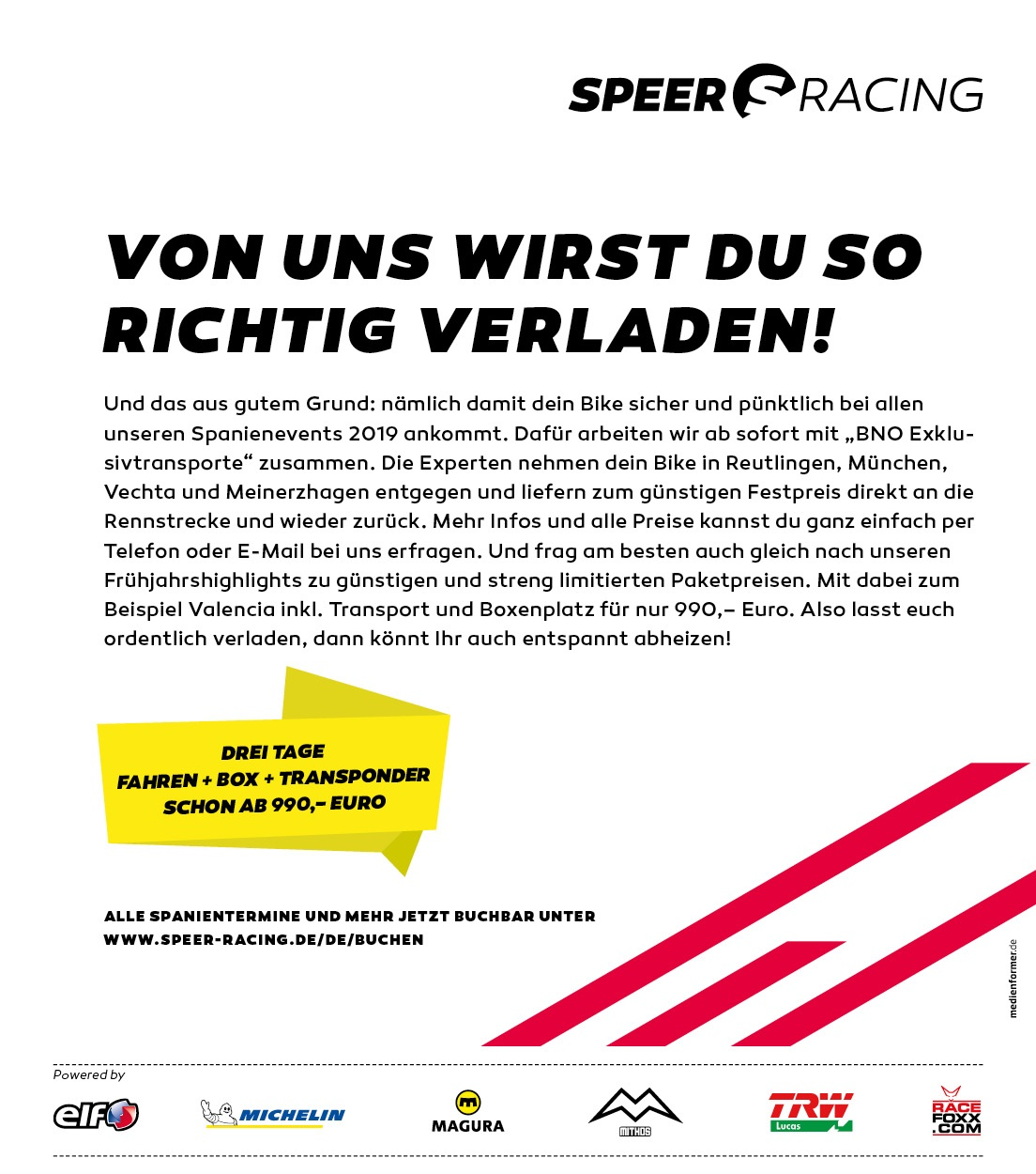 Speer-Racing - Verladen