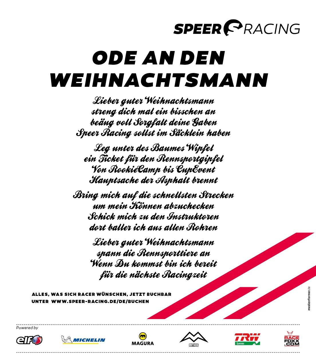 Speer Racing: Ode an den Weihnachtsmann