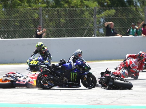 Reaktionen auf Lorenzo-Dovizioso-Vinales-Rossi-Crash in Barcelona