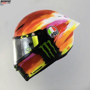 Der Mugello-Helm von Valentino Rossi 2019 - © AGV