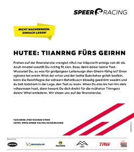 Speer Racing - Gehirntraining