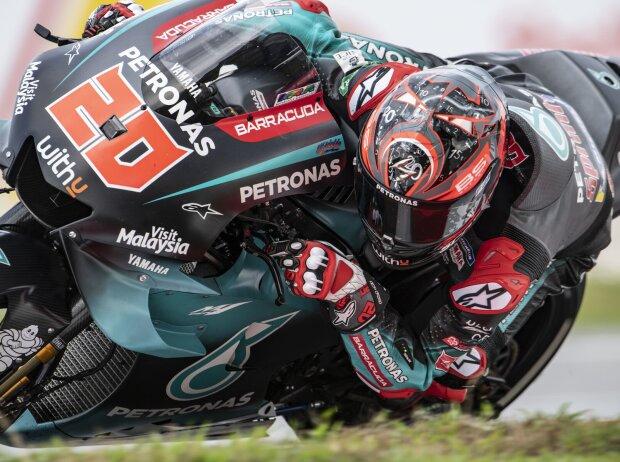 MotoGP Valencia FP1: Quartararo-Bestzeit vor Miller und Marquez, Rossi-Sturz und Ducati-Feuer.