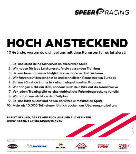 Speer Racing - 10 Gründe