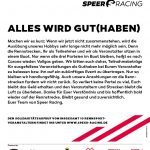 Speer Racing Aufruf