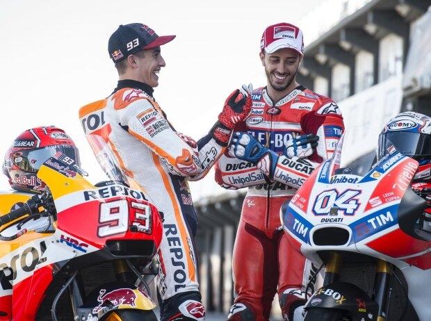 Marc Marquez und Andrea Dovizioso - © LAT