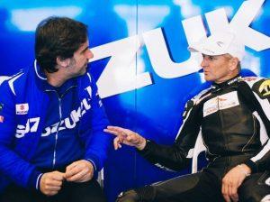 Davide Brivio mit Kevin Schwantz - © www.suzuki-racing.com