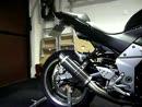 Kawasaki Z1000 mit Termignoni Auspuffanlage