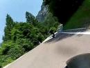 Motorradtour vom Idrosee ins Daone Tal zum Gumpenspringen