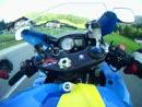 Gaißau, Salzburger Land, mit Suzuki GSXR 1000 K8 Rizla - GoPro Hero