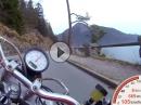 Walchensee mit Ducati Monster und Gyro - schwindelig fahren