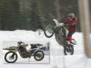 185km/h Schneetreiben: Suzuki GSXR 1000 Cross-Umbau, Eskalation
