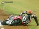 1997 World Superbike Phillip Island Race 1 - Das Rennen war geprägt von zahlreichen Stürzen.