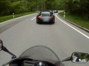 2 Porsche 911 vs Honda CBR600F - German Alps