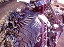 3D Skulpur-Motorrad - aufwendig gemacht, aber wer setzt sich auf sowas?