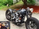 47er Harley FL Knucklehead Bobber mit High Tech Kill Schalter