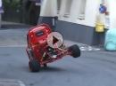 Ape Proto - Dreirad extrem mit 600er Honda Motor beim anrauchen