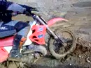 Motocross in der Kiesgrube mit Honda CR 250