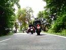 40 Motorräder und 1 Tmax zum Kyffhäuser. Rückfahrt über Bad Frankenhausen.