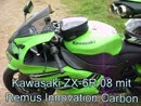 Kawasaki ZX-6R '08 mit Remus Innovation Carbon