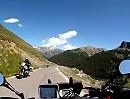 Abfahrt (Süd) Col de la Bonette, Haute Provence, Frankreich - Motorradreise