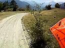 Abfahrt vom Monte Jafferau (2801m - Italien) nach Salbertrand mit einer BMW F 800 GS