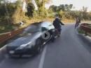 Abgeräumt: Auto rauscht in Gegenverkehr - Schutzengel-Alarm