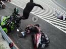 Abgeräumt / Crash: Niemals am Kurvenausgang parken = Flugschneise