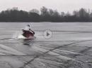 Ducati abgesoffen: Spaß zu groß, Eis zu dünn - jetzt isse weg, die Duc