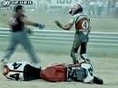 SBK 1997 - Albacete (Spanien) Rennen 2 - Kocinski siegt erneut und Fogarty fliegt wieder ab. WM-Titel futsch!