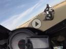 Almeria onboard Kawasaki H2R, Michael Rutter alter Falter